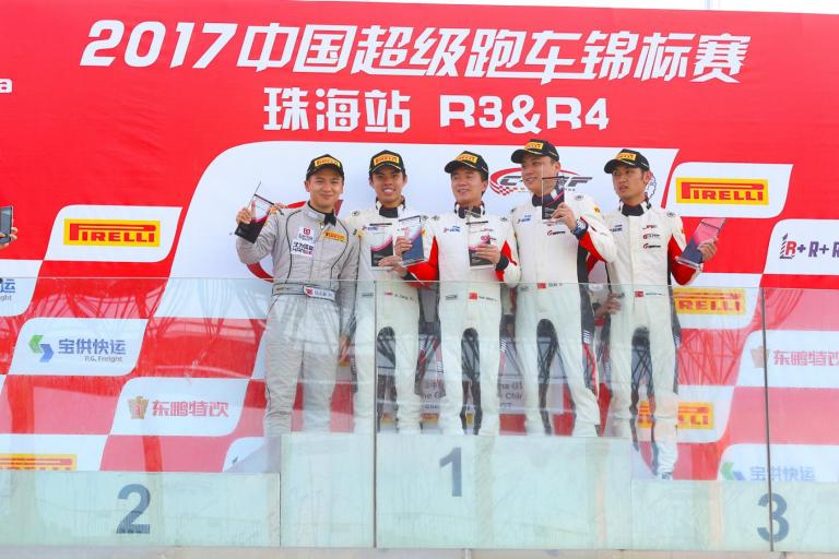 China GT: Brilliant podium from last for FAW T2M as Porsche entries face wild weather, tough competition at China GT in Zhuhai